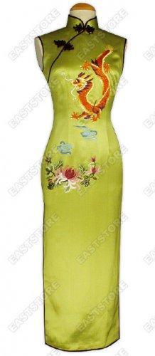 Stunning Dragon Embroidery Silk Cheongsam