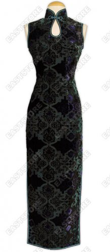 Graceful Burn-out Velvet Cheongsam