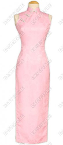 Pink Happiness Icon Silk Cheongsam