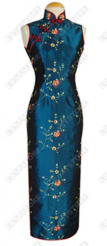 Traditional Floral Embroidered Cheongsam