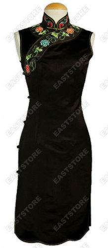 Classical Floral Embroidery Cheongsam