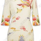 Phoenix and Clouds Embroudered Silk Cheongsam