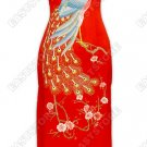 Peacock Embroidered Silk Cheongsam