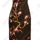 Blooming Mei Hua Embroidery Silk Crape Cheongsam
