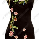 Junoesque Floral Embroidered Silk Cheongsam