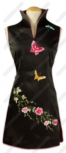 Midnight Rhapsody Banquet Floral Embroidered Mini Dress