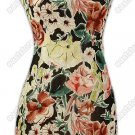 Well-off Floral Printed Silk Cheongsam