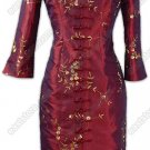 Practical Floral Embroidered Cheognsam(Coat)