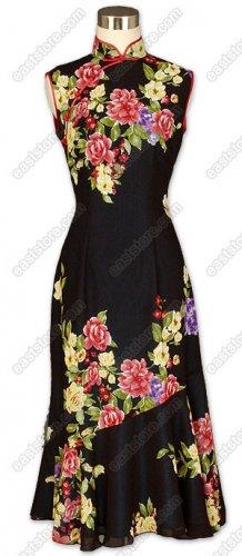 Floral Printed Silk Georgette Dress