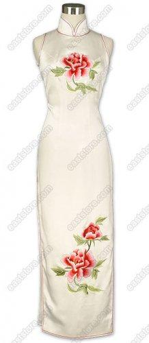 Fantasy Mu Dan Embroidered Silk Cheongsam