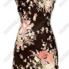 Gardenesque Patterns Printed Silk Cheongsam