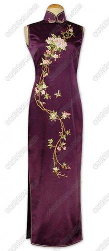 Stunning Tao Hua Embroidered Silk Cheongsam
