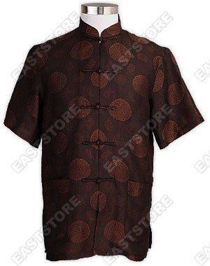 Longevity Pattern Silk Crepe Shirt