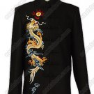 Powerful Dragon Embroidered Cashmere Jacket