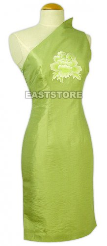 Sexy Poeny Thai Silk Dress