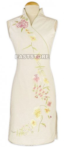 Entrancing V-neck Flower Embroidery Dress