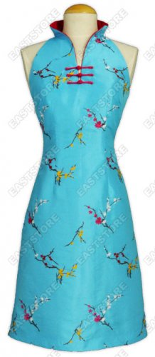 A-Shaped Plum Blossom Embroidery Dress