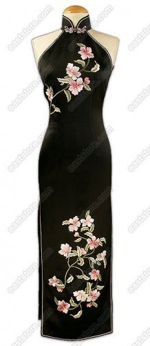 Blooming Flowers Embroidered Cheongsam