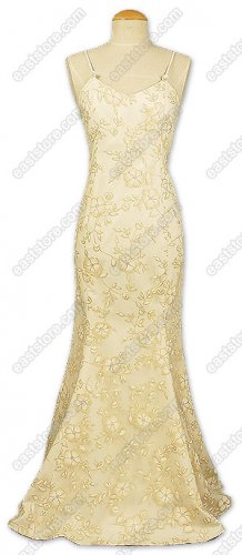 Magnificent Floral Burn-Out Silk Fishtail Dress