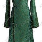 Chic Fur Trimmed Dragon Brocade Coat