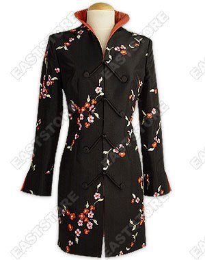 Delicate Floral Embroidery Coat