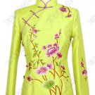Exquisite Flowered Embroidery Thai Silk Blouse
