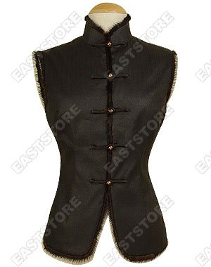 Plain Silk Crape Vest(Quilted)