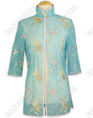Floral Embroidered Silk Voile Blouse