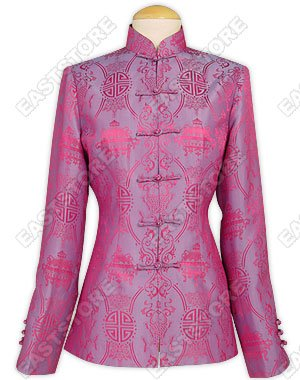 Silk Double-Fishes Pattern Jacket