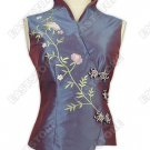 Vine Embroidered Sleeveless Blouse