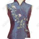 Vine Embroidered Sleeveless Blouse