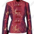 Floral Embroidered Fur-Trimmed Jacket(Quilted)