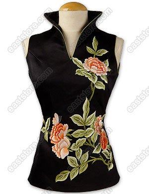 Flourishing Peony Embroidered Blouse