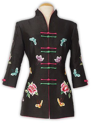 Graceful Butterfly Embroidery Jacket
