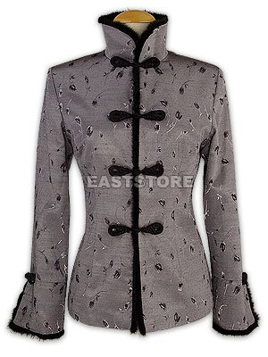 Tulip Pattern Silk Women Jacket