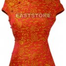 Oriental Longevity Cap Sleeves Blouse