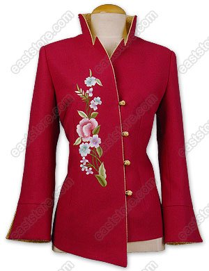Unique Floral Embroidered Wool Jacket