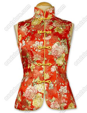 Flourishing Brocade Vest(Quilted)