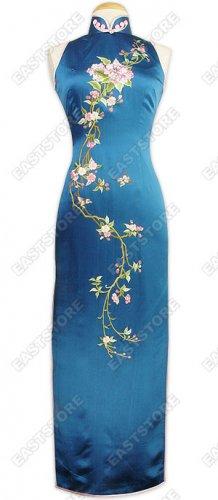 Feminine Floral Embroidery Cheongsam