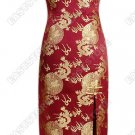 Chinese Flying Golden Dragon Cheongsam