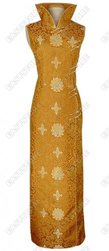 Riches and Honor Flowers Cheongsam