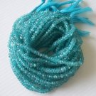 APATITE FACETED RONDELLES 3.5-4MM FULL 14 INCH STRAND