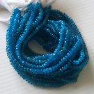 RICH DARK BLUE APATITE FACETED RONDELLES
