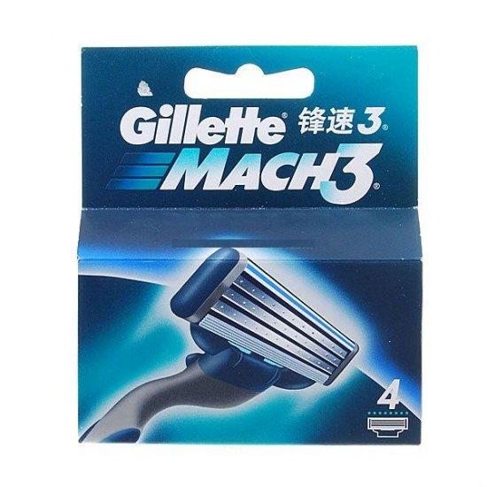 Gillette Mach3 Revolutionary Triple-Blade (4-Pack)