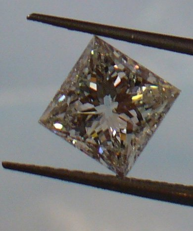 1.02ct Brilliant Princess G color Diamond with GIA