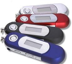 256MB MP3 Player+ FM Tuner + Flash Disk
