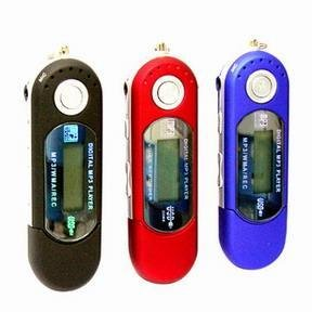 2-GB MP3 Player+ FM Tuner + Flash Disk