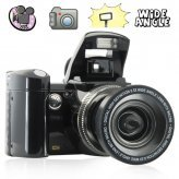 Multifunction Pop-Up Flash Digital Camera with Wide-Angle Lens