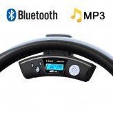 Car Steering Wheel Bluetooth Adapter + Wireless Earpiece