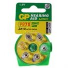 GP PR70/ZA10 Zinc Air 1.4V Batteries for Hearing Aid (6-Pack)